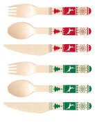 Perfect Stix-Sucre Shop Sucre Sweater Kit-36ct Holiday Wooden Cutlery Set