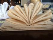Atlas 100% Pima Cotton Plain Sateen Beige with Dot design 46cm x 46cm Napkins - Set of 8