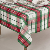 Fennco Styles Vernor Collection Plaid Design Holiday Dinner Tablecloth And Napkin
