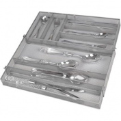 Mainstays Expandable Mesh Cutlery Tray Silver Finish