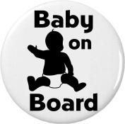 Baby on Board 5.7cm Bottle Opener w/ Keyring Symbol Sign