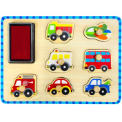 Professor Poplar's Puzzle Stampers Puzzle Boards with Inkpad by Imagination Generation