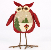 Welcomeuni Christmas Ornaments Christmas Ornaments Linen Owl Plush Doll Gift Aberdeen