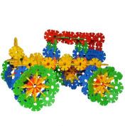 Goldflower 280 Pcs Discs Building Set Engineering Toy-Fine Motor Skills- Children Imaginations Run Wild