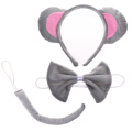 BCP Cute Animals Mouse Ears, Tail, and Bow Tie Party Halloween Costume kit