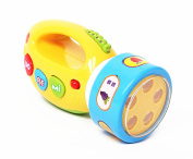 Branew Children's Intelligence Science and Education Study Toy Electronic Sound and Light Plastic Play the Game Practical Flashlight Gifts