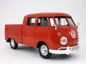 Volkswagen - VW - T1 Pick-Up Bus Van 1/24 Scale Diecast Metal Model - RED