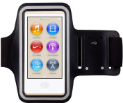 Armband for iPod Nano 7, CFZC Running Gym Sport Wrist Strap Armband, Dual Arm-Size Slots (for Small and Large Arms) Sweat Proof and Key Pocket MP3 Player Armband.