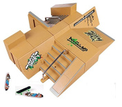Kidsdream® 8pcs Skate Park Kit Ramp Parts for Tech Deck Fingerboard Mini Finger Skateboard Fingerboards Ultimate Parks with 3PCS Finger Boards