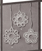 Vintage Crochet PATTERN to make - Shade Curtain Light Fan Pulls Victorian Christmas Ornaments. NOT a finished item. This is a pattern and/or instructions to make the item only.