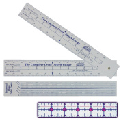 Complete Cross Stitch Gauge - Scales for 12 fabric counts - Count stitches, determine dimensions and where to start design - Includes floss number comparison chart *Bonus 2.5cm x 15cm ruler $4.99 Value*