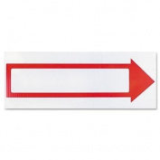 Consolidated Stamp 098056 Stake Sign, Blank White With Printed Red Arrow