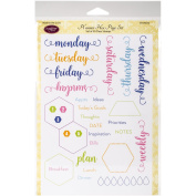 Justrite Papercraft Clear Stamps 15cm x 20cm -Planner Hex Page