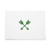 Crossed Arrows Jewel Jewellery Letter Style 8983, Rubber Stamp Shape great for Scrapbooking, Crafts, Card Making, Ink Stamping Crafts