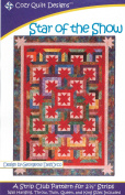 Star of the Show Quilt Pattern, Jelly Roll 6.4cm Strip Friendly, 5 Sizes Options