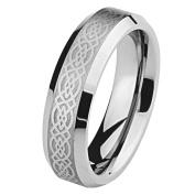 *Laser Engraving Service* 6mm Celtic Design Laser Engraved Tungsten Comfort-fit Wedding Band Ring