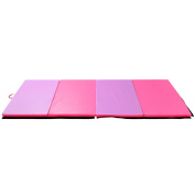 """Tenive 1.2mx3mx2""""Pu Leather Gymnastic Exercise Mat Tumbling Mats Gym Folding Panel Martial Art Fitness Exercise Mat -4Colors choices"""