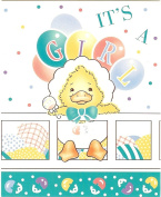 Baby Announcement Shower Invitation Cards ~ It's A Girl with Duck Design ~ 8 Cards and Envelopes ~ Size