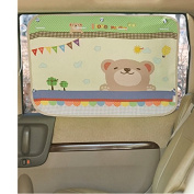 Car Sun Shade Curtain for Side Window for baby kids children - Car Sunshade Protector - Protect kids pets from sun glare heat. Blocks UV Rays Sun Glare - Interior Sun Blocker Blind