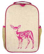 SoYoung Raw Linen Grade School Backpack, Pink Fawn