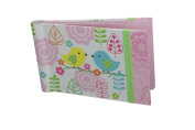 """Baby Photo Album 4 x 6 Brag Book """"Love Birds"""" - Boy / Girl Baby Shower Gifts, - Holds 24 Precious Photos, Acid-free Pages"""