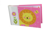 "Baby Photo Album 4 x 6 Brag Book ""Jungle Friends Girl"" - Baby Shower Gifts, - Holds 24 Precious Photos, Acid-free Pages"