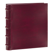 Pioneer Photo Albums 200-Pocket European Bonded Leather Photo Album for 13cm by 18cm Prints, Burgundy
