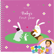 Baby's First Year Memory Book With 12 Milestone Stickers, Bunny Edition