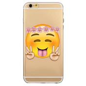 iPhone 6 Plus Case, Nurbo 2016 New Hot Transparent Clear TPU Emoji Cover for iPhone 6s Pllus 14cm