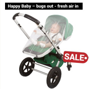 Only this week .  Baby Mosquito Net for Strollers, Carriers, Car Seats, Cradles by #1 EVEN Naturals® | Free Carry Bag & eBook .  Soft Fly Screen Protection