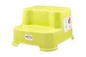 StepSafe® Step Stool 2 Step -For kids and Adults • Non Slip Surface and Feet • For Potty, Bathroom and Kitchen • High Quality Safe Materials • 90kg Capacity, 20cm H