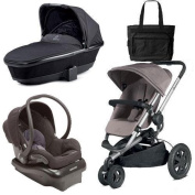 Quinny Buzz Xtra Travel System with Bag - Grey Black