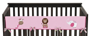 Sweet Jojo Designs Jungle Friends Animals Long Front Rail Guard Baby Teething Cover Crib Protector Wrap