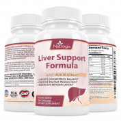 Natrogix Liver Support Supplement - 200mg Milk Thistle Extract w/ Beet Root, Artichoke, Chanca Piedra, Dandelion, Chicory Root, Yarrow etc. Proprietary Blend Supports Liver Health (180 Capsules).