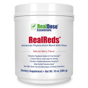 Doctor Formulated RealReds Antioxidant Powder - Includes Prebiotic Fibre, Polyphenols & Organic Superfoods - Non-GMO Fruit, Blueberries, Pomegranate, Grape Seed, Strawberries & Cherry - 30 Servings