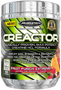 MuscleTech Creactor, Max Potency Creatine HCL Powder, Fruit Punch Extreme, 120 servings, 280ml