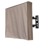 100cm Outdoor TV Cover, Brown Weatherproof Universal Protector for 100cm - 110cm LCD, LED, Plasma Television Sets - Compatible with Standard Mounts and Stands. Built In Remote Controller Storage Pocket