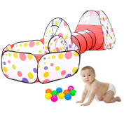Kids Tent, 3 in 1 Play Tent House for Tent Girls Ball Pit Indoor Outdoor Playground for Girls Gift