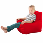 Comfy Toddler Armchair Beanbag Chair-Red