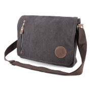 Mens Boys Military Style Casual Bag Travelling Hiking Canvas Shoulder Bag