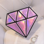 Ourbest hologram bag diamond shape women messenger bag laser holographic bags crossbody chain bag