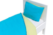 Briljant Baby DBO100X135XLIME/AQUAN Duvet Set 100 x 135 cm, Pillow 40 x 60 cm, Multi-Coloured