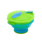 Vital Baby Travel Suction Bowl, Blue/Green