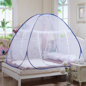 Hoomall Folding Mosquito Net Tent Canopy Curtains Home Bedroom D¨¦cor Canopy Netting for Queen Bed White