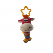 Cute Tinkle Baby Hanging Rattles Puppet Handbells Stroller Toys Cow