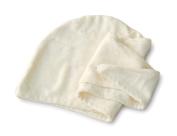 Basicare Bamboo Fibre and Cotton Hair Turban, 71 x 26 cm