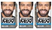 Just For Men Brush in Colour Gelformel Bart Und Schnurrbart Schwarz - 3er Pack