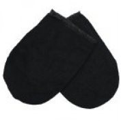 Towelling Black Hand Mitts