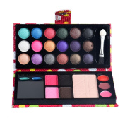 Xinantime 26 Colours Eye Shadow Makeup Palette + Lip Gloss Powder Set