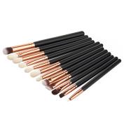 Molie 12pcs Makeup Brush Set Makeup Eyeliner Eyeshadow Cosmetic Eye Brushes
